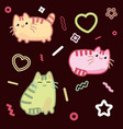 cat kawaii style kitten kitty pet on vector image vector image