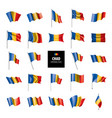chad flag vector image