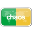 chaos Flat web button icon World map earth icon vector image vector image