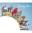chiang mai thailand city skyline with color vector image vector image