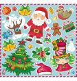 Christmas symbols set vector | Price: 3 Credits (USD $3)