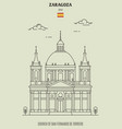 church san fernando de torrero in zaragoza vector image vector image
