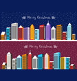 city snowy with houses vector image vector image