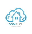 cloud and house logo concept vector image vector image