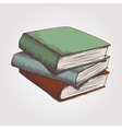 colorful sketch of books stack vector image vector image