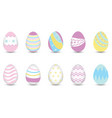 easter eggs for decoration vector image vector image
