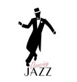 elegant man wearing classic style clothing vector image vector image