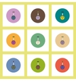flat icons Halloween set of pumpkin and candy vector image vector image