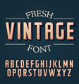 fresh vintage font poster vector image vector image