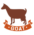 goat symbol vector image vector image