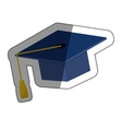 Graduation hat isolated vector image vector image
