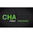 green change background vector image