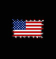 grunge american flag flag of usa vector image vector image