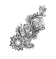 Hand drawn decorative floral element vector image vector image