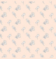 hand drawn eucalyptus seamless pink pattern vector image vector image