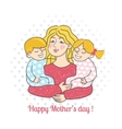 Happy mother day card vector image vector image