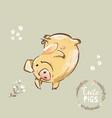 happy pig 2019 new year symbol dancing funny new vector image vector image