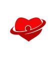 heart care logo design template vector image
