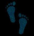 human steps mosaic icon of halftone circles vector image vector image