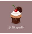 I Like Cupcake vector image vector image