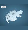 isometric 3d switzerland map concept vector image