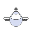 jet airplane isolated vector image vector image