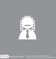 judge icon avatar symbol of justice vector image