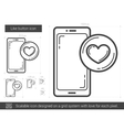 Like button line icon vector image vector image