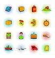 Logistics comics icons vector image vector image