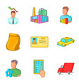 lot of work icons set cartoon style vector image vector image