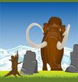 mammoth on gladeprehistorical animal mammoth on vector image
