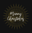marry christmas gold glitter background vector image