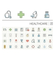 Medicine and healthcare color icons vector image vector image