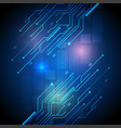 modern technology of circuit board vector image vector image