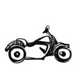 motorcycle icon in doodle sketch lines sport vector image vector image