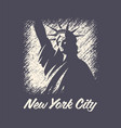 new york t-shirt and apparel design print vector image vector image