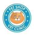 pet shop vet clinic design graphic vector image vector image