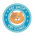 pet shop vet clinic design graphic vector image