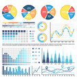 pie diagram with sectors percentage information vector image vector image