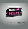 pink banner with frame black friday fashion card vector image vector image