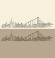 San Francisco big city architecture vintage vector image