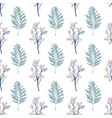 seamless leaf pattern tropical leaves in blue vector image
