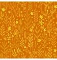 Seamless pattern doodling fall grass design vector image vector image