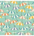 Seamless pattern in retro style with umbrellas vector image