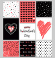 set of valentines day hand drawn posters vector image vector image