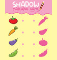 shadow matching game template vector image vector image