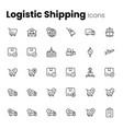 shipping parcel logistics icon set vector image