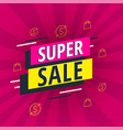 special offer super sale bright banner vector image vector image