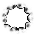 speech bubble on halftone dots background vector image