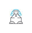 sphinx linear icon concept sphinx line vector image